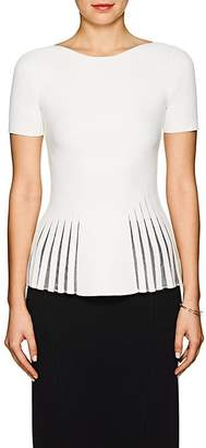 Zac Posen Women's Compact Knit Peplum Top