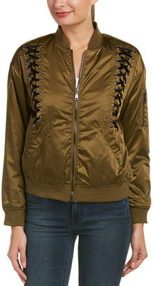 Bagatelle Lace-Up Bomber Jacket