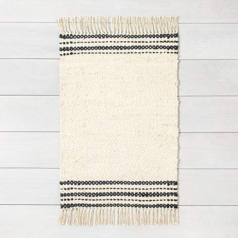 Hearth & Hand with Magnolia Jute Rug Charcoal Stripe - Hearth & Hand with Magnolia