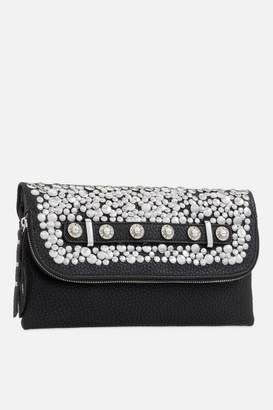 Couture **Embellished Fold Over Clutch Bag by Koko