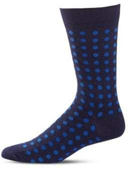 Black Brown 1826 Polka Dot Mid-Calf Socks
