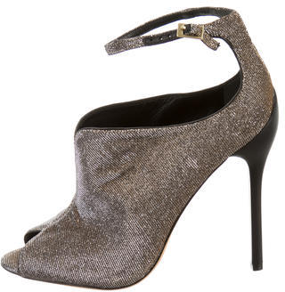 B Brian Atwood Metallic Woven Booties $125 thestylecure.com