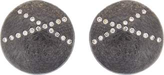 Todd Reed White Diamond X Stud Earrings