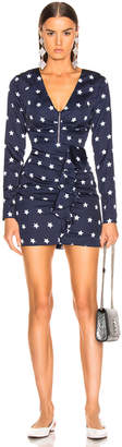 Self-Portrait Self Portrait Star Printed Long Sleeve Dress