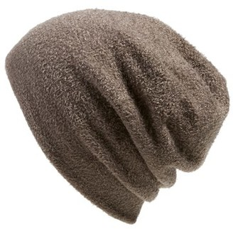 Women's Barefoot Dreams Knit Slouch Beanie - Brown $40 thestylecure.com