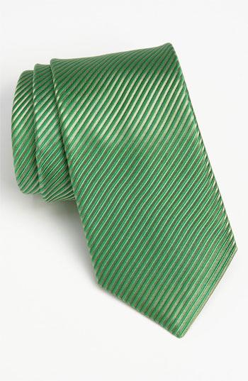 Nordstrom Woven Silk Tie Hunter Regular