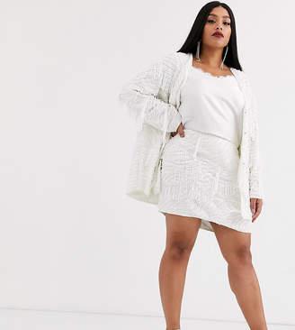 Asos Edition EDITION Curve beaded fringe mini skirt