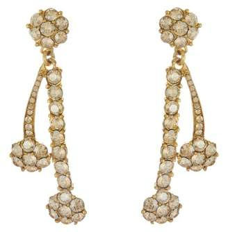 Oscar de la Renta Double Crystal Drop Earrings