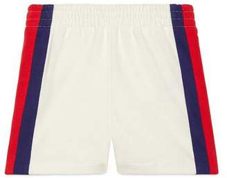 Gucci Baby jersey shorts with Web