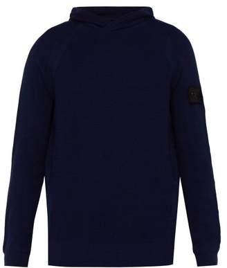Stone Island Shadow Project - Logo Patch Cotton Hooded Sweatshirt - Mens - Blue