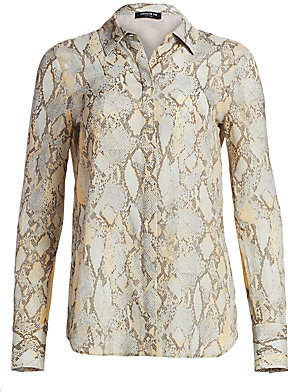 Lafayette 148 New York Women's Scottie Python Blouse