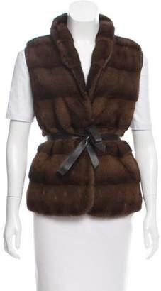 Pologeorgis Reversible Mink Fur Vest