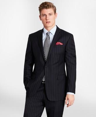 Brooks Brothers BrooksGate Milano-Fit Bead-Stripe Twill Suit Jacket