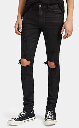 Amiri Men's Thrasher Coated Skinny Jeans - Black