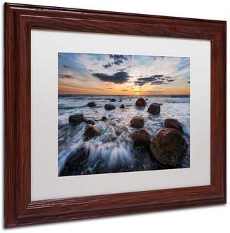 Michael Blanchette Photography 'Boulders To The Sun' Matted Framed Art