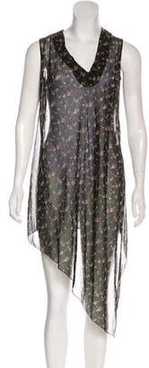 Victoria Beckham Floral Midi Dress