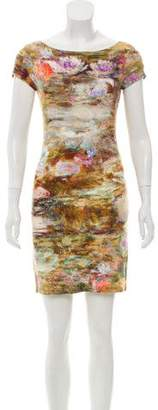 ABS by Allen Schwartz Mini Bodycon Print Dress