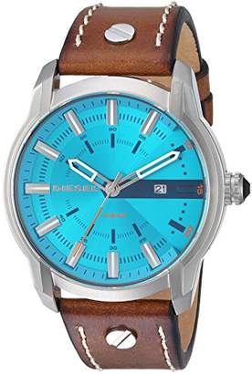 Diesel Men's 'Armbar' Quartz Stainless Steel and Leather Casual Watch