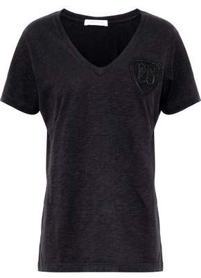 Pierre Balmain Appliquéd Cotton-Jersey T-Shirt