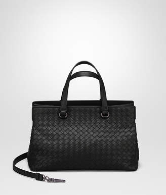 Bottega Veneta NERO INTRECCIATO NAPPA MEDIUM TOP HANDLE BAG