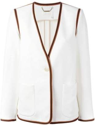 Chloé ribbon trim blazer