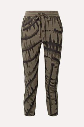 Twenty Montréal Hyper Reality Cropped Tie-dyed Cotton-blend Jacquard Track Pants