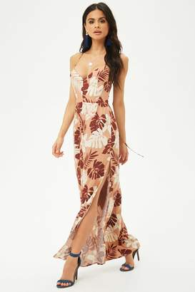 Forever 21 Tropical Floral Print Maxi Dress