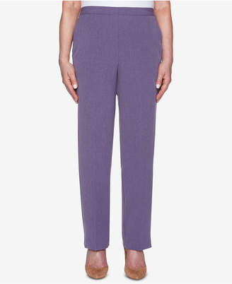 Alfred Dunner Petite Smart Investments High-Rise Straight-Leg Trousers