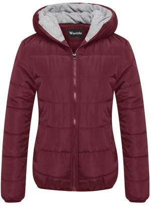 Wantdo Women's Cotton Padded Jacket Windproof Warm Puffer Coat