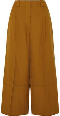 Marni Cropped Wool Wide-leg Pants - Brown