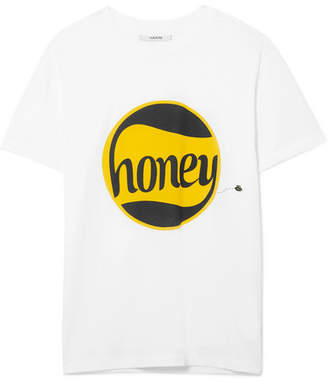 Ganni Harway Printed Cotton-jersey T-shirt - White
