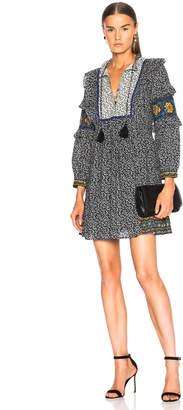 Sea Ruffle Sleeve Maya Dress