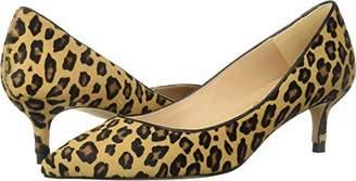 LK Bennett Women's Audrey Haircalf Leopard Print Pointed Toe Kitten Heel Court Shoes Pump