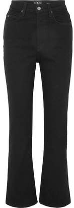 Eve Denim Juliette High-rise Straight-leg Jeans - Black