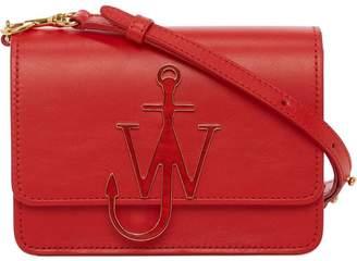 J.W.Anderson Scarlet Enamel Anchor Logo Bag