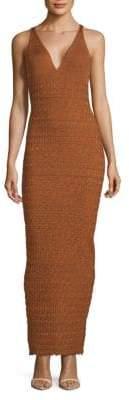 Ronny Kobo Tilda Textured Deep V-Neck Dress