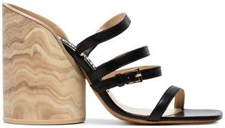 Jacquemus Black 105 Leather Sandals