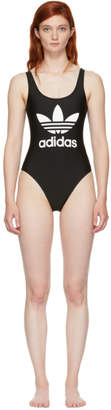 adidas Black Trefoil Swimsuit