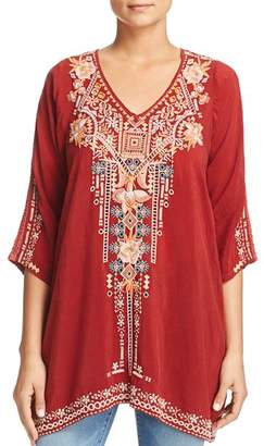 Johnny Was Mikaela Embroidered Tunic