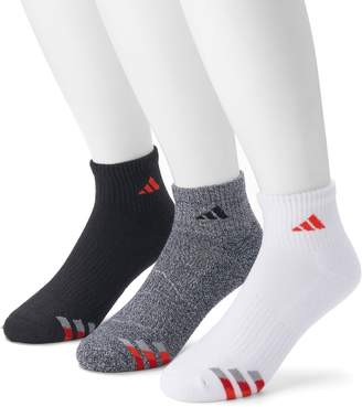 adidas Men's 3-pack Climalite Cushioned Compression Quarter Socks