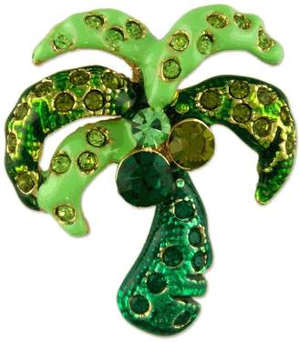 Swarovski Unknown CRYSTAL PALM TREE PLANT BROOCH PIN MADE WITH ELEMENTS