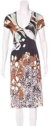 Etro Abstract Print Midi Dress