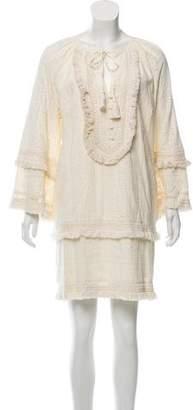 Rachel Zoe Long- Sleeve Mini Dress