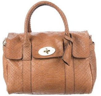 Mulberry Mini Python Bayswater Bag $695 thestylecure.com