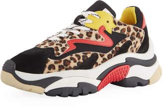 Ash Addict Mixed Leopard Colorblock Sneakers