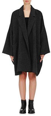 Helmut Lang Women's Oversized Cape Coat-GREY $1,195 thestylecure.com