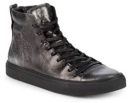 John Varvatos Reed Leather Mid-Top Sneakers