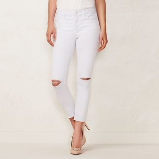 Women's LC Lauren Conrad Ripped Skinny Ankle Jeans $50 thestylecure.com