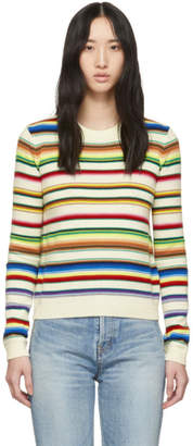 Saint Laurent Multicolor Stripes Wool Sweater