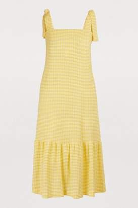 Harris Wharf London Gingham midi dress